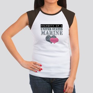 Property of a US Marine Women's Cap Sleeve T-Shirt