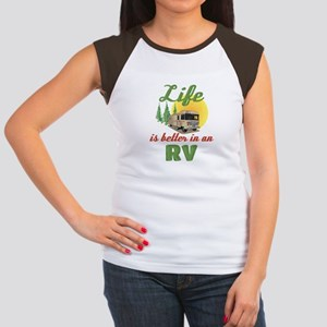 Life's Better In An RV Junior's Cap Sleeve T-Shirt