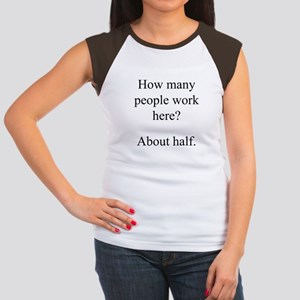 """...people work here?"" Women's Cap Sleeve T-Shirt"
