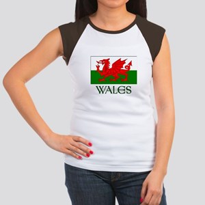 For the love of Wales! Women's Cap Sleeve T-Shirt