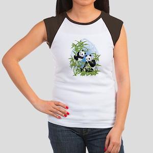 580a3ea08 Panda Tees Women's Cap Sleeve T-Shirts - CafePress
