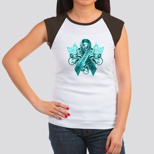 I Wear Teal for my Daughter Women's Cap Sleeve T-S