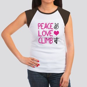 peace love climb pink T-Shirt