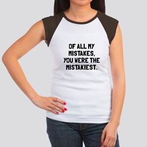 You were mistakiest Junior's Cap Sleeve T-Shirt