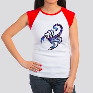 Celestial Rainbow Scorpion Women's Cap Sleeve T-Sh