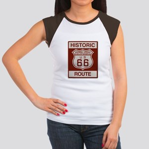 Newberry Springs Route 66 Women's Cap Sleeve T-Shi