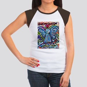 Colorful Cancer Angel Women's Cap Sleeve T-Shirt
