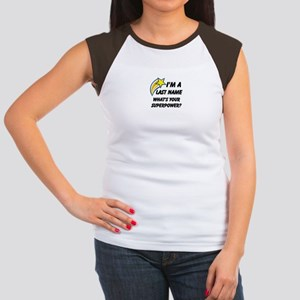 Personalized Last Name Women's Cap Sleeve T-Shirt