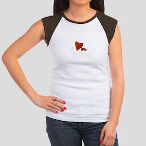 Heartbeats - Women's Cap Sleeve T-Shirt