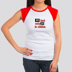 80 year old designs Women's Cap Sleeve T-Shirt