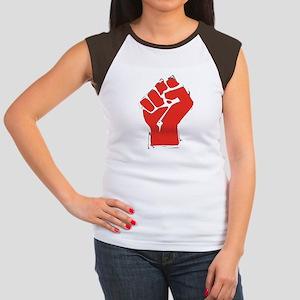 Raised Fist Women's Cap Sleeve T-Shirt
