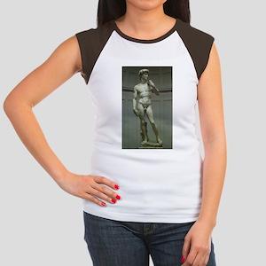 Statue of David by Michelangelo Women's Cap Sleeve