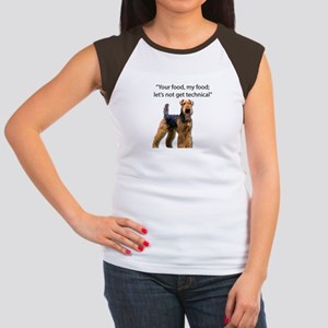 Your Food - My Food Airedale T-Shirt