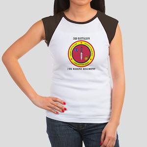 2nd Battalion 7th Marines Women's Cap Sleeve T-Shi