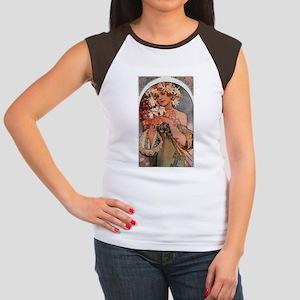 Alphonse Mucha Women's Cap Sleeve T-Shirt