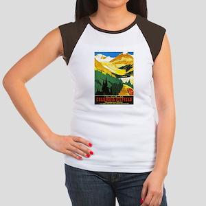 Canada Travel Poster 7 Women's Cap Sleeve T-Shirt
