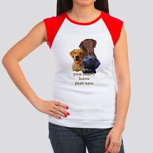 Three Labs Women's Cap Sleeve T-Shirt