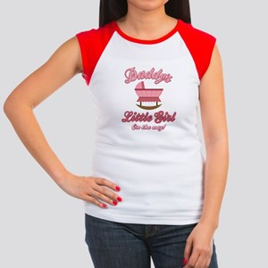 Daddy's Girl On Way Women's Cap Sleeve T-Shirt