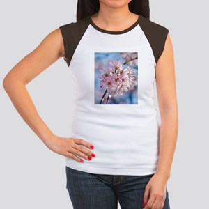 Japanese Cherry Blossom Women's Cap Sleeve T-Shirt