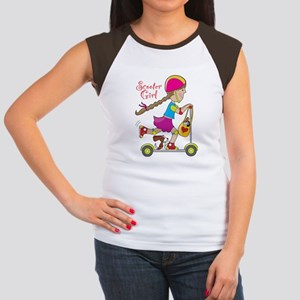Scooter Girl Women's Cap Sleeve T-Shirt
