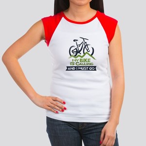 My Bike is Calling Junior's Cap Sleeve T-Shirt