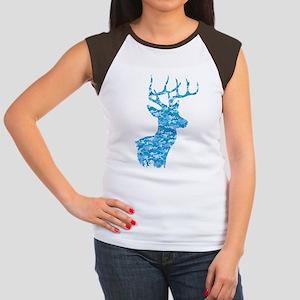 Blue Camo Deer T-Shirt