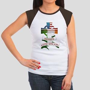 Irish American Celtic Cross Women's Cap Sleeve T-S
