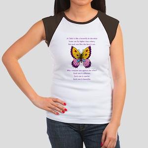 A Child Is Like a Butterfly-  Women's Cap Sleeve T
