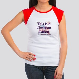 This is a Christian Nation Women's Cap Sleeve T-Sh