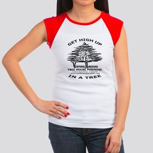 GET-HIGH-UP-BLK-8X10 Women's Cap Sleeve T-Shirt