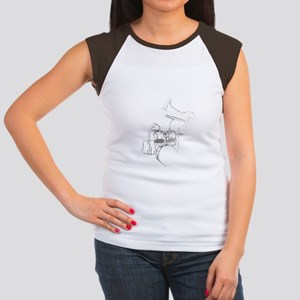 White Gorilla Women's Cap Sleeve T-Shirt