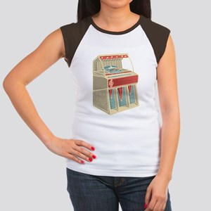 Grunge Retro Jukebox Women's Cap Sleeve T-Shirt