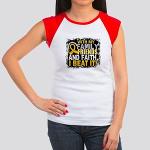 Childhood Cancer Survi Junior's Cap Sleeve T-Shirt