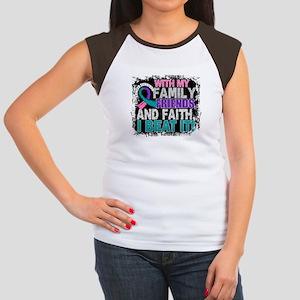 Thyroid Cancer Survivo Junior's Cap Sleeve T-Shirt