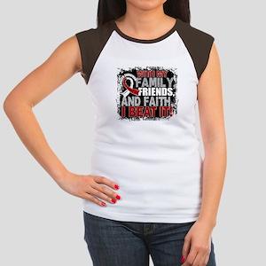 Throat Cancer Survivor Junior's Cap Sleeve T-Shirt