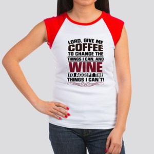 Coffee and Wine Junior's Cap Sleeve T-Shirt
