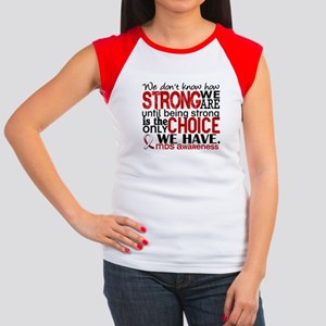 MDS How Strong We Are Women's Cap Sleeve T-Shirt
