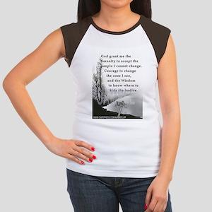 TWISTED SERENITY PRAYER Women's Cap Sleeve T-Shirt