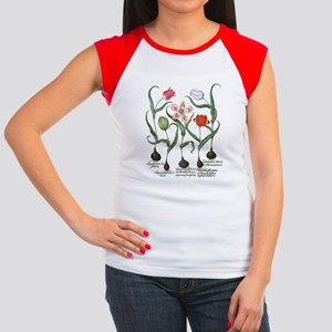 Vintage Tulips by Basil Women's Cap Sleeve T-Shirt
