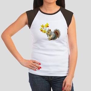 Squirrel Daffodils Women's Cap Sleeve T-Shirt
