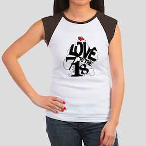 Love to the 718 (Brookl Women's Cap Sleeve T-Shirt