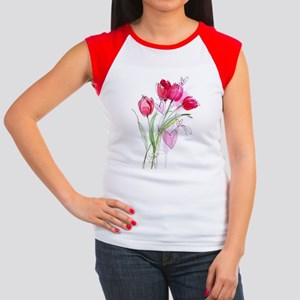 Tulip2 Women's Cap Sleeve T-Shirt