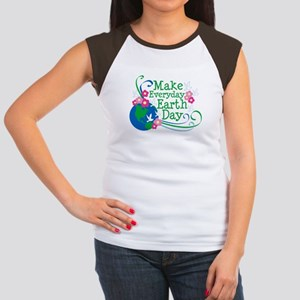 Make Everyday Earth Day Women's Cap Sleeve T-Shirt