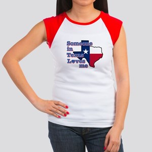 Someone in Texas loves me Women's Cap Sleeve T-Shi