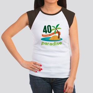 40th Anniversary (Tropical) Women's Cap Sleeve T-S