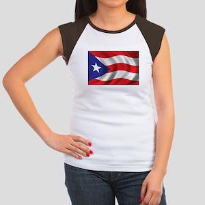 Flag of Puerto Rico Women's Cap Sleeve T-Shirt