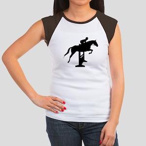 Hunter Jumper Over Fenc Women's Cap Sleeve T-Shirt