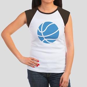 Basketball Carolina Bl Junior's Cap Sleeve T-Shirt