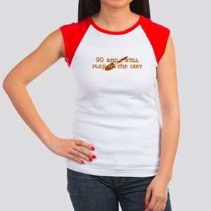 90th Birthday Gardening Women's Cap Sleeve T-Shirt