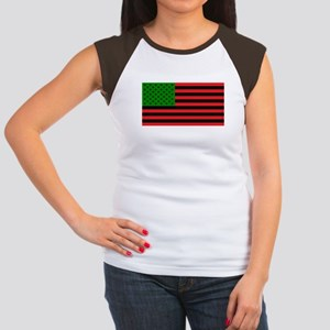 African American Flag - Red Black and Gree T-Shirt